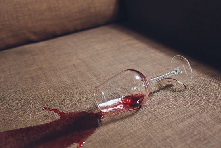 wine spilled on couch