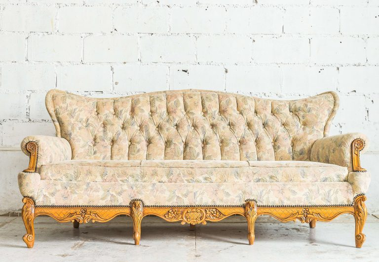 old off white couch